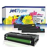 jetType Toner Set für Ricoh SP C250SF / SP C250DN / Aficio SP C250SF ersetzt Ricoh 407543 / 407544 / 407545 / 407546