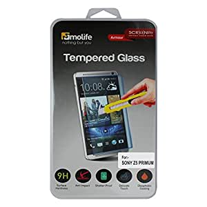 Molife Brand Tempered Glass Screen Protector for Sony Z5 DUAL