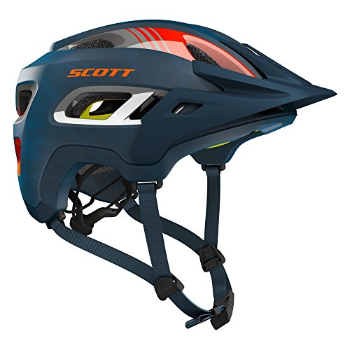 Scott Stego MTB Fahrrad Helm blau/orange 2018: Größe: M (55-59cm) (Fahrrad-helm Große)