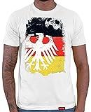 HARIZ  Herren T-Shirt Adler Ball Flagge Weltmeisterschaft Trikot WM Gratis Bang Sticks Deutschland Fussball Collection White L