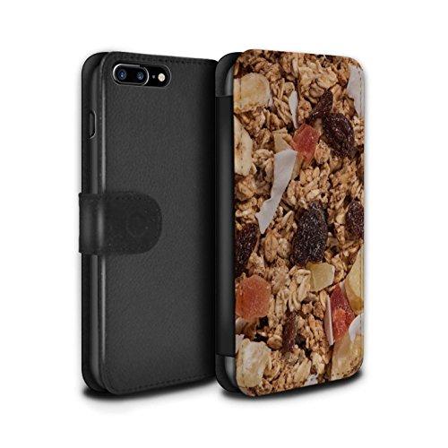 Stuff4 Coque/Etui/Housse Cuir PU Case/Cover pour Apple iPhone 7 Plus / Grahams de Cannelle Design / Céréale Collection Granola Tropicale