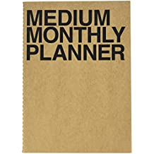 Jstory Medium Personal Wide Spaces Monthly Planner 18 Sheets Black