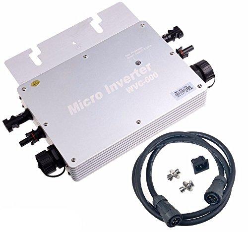 Y&H 600W MPPT wasserdichte Rasterfeld Wechselrichter DC22-50V zu AC230V für 36V Solarpanel Startseite Solarpanel System WGTI-600W-230V