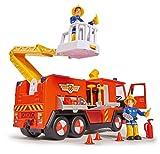 Simba 109251038 - Sam Jupiter Feuerwehrauto 2.0 / Mit Sam und Elvis Figur / mit Licht und Sound / Mit ausfahrbarer Leiter und Suchscheinwerfer / 28cm Test