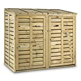 Waldbeck Ordnungshüter • Mülltonnenbox • Mülltonnenverkleidung • Abfalltonnenschrank • für