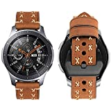 iBazal 22mm Cinturino Pelle Rilascio Rapido per Gear S3 Frontier/S3 Classic SM-R760, Galaxy Watch 46mm SM-R800, Huawei Watch GT/2 Classic/Magic, TicWatch Pro,Amazfit Stratos Orologi - Speciale Marrone