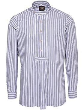 Hammerschmid Trachtenhemd Slim Fit Pfoad Zweifarbig in Blau und Grün