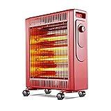 GONGFF Röstofen Heizung Haushalt Energieeinsparung Geschwindigkeit Heiß Elektrische Heizung Elektrische Heizung Heizung,Red
