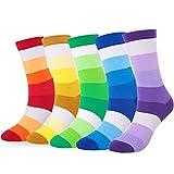 Ueither Lustigen Herren Socken Bunte Gemusterte Baumwolle Socken (42-48, Farbe 10)