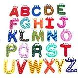 SODIAL(R) Imanes para Refrigerador Letras A-Z de Madera Juguete Educativos para Ninos