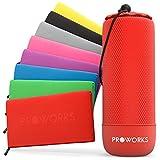 Proworks Asciugamano in Microfibra, Asciugamano da Palestra ad Asciugatura Rapida con Borsa da Viaggio, Ultraleggero, Salvaspazio Spiaggia e Capelli Asciugamano Sportivo - L - Rosso