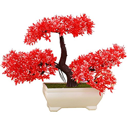LWBAN-plant Plante Artificielle Bonsaï cèdre Artificiel en Pot, Arbre Artificiel/Bonsai déco, Hauteur 20 cm, 2