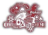 Casino Poker Elements Pegatina de Vinilo Para la Decoracion del Vehiculo 12 X 10 cm