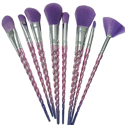 10 pcs maquillage premium brosses contour anticernes poudre de base parfaite brosse cosmétique violet