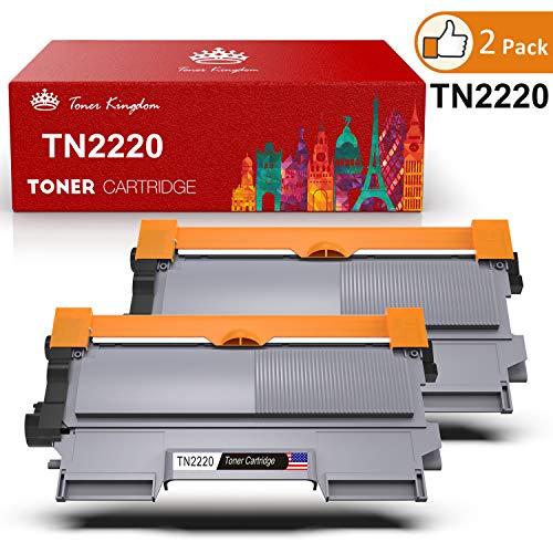 Toner Kingdom 2×Kompatibel TN-2220 TN-2210 Toner - Schwarz, 2600 Seiten, Toner Ersatzkartusche für Brother Drucker HL-2130 HL-2250DN DCP-7055 DCP-7055W HL-2220 HL-2132 HL-2230 HL-2240 HL-2240D