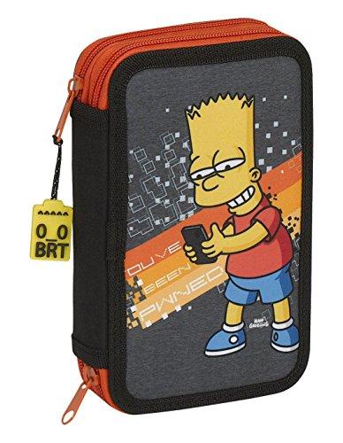 Los Simpsons – Plumier doble pequeño 28 piezas (Safta 411705854)