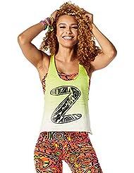 Zumba Fitness When The Sun Goes Down Crop Tank Top, todo el año, mujer, color Zumba Green, tamaño medium
