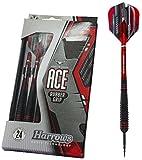 Harrows Ace Gummi Grip Darts L Schwarz