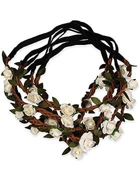 Sumolux Damen 12 Stück Boho Stil Blumen Stirnband für Mädchen/Baby Blumenmädchen Brautjungfern Braut Festival...
