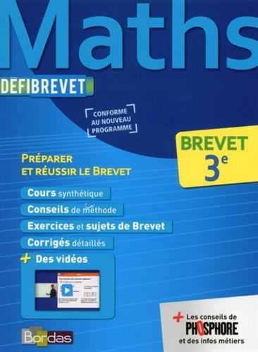 Maths 3e - Nouveau programme 2016