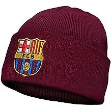 FC Barcelona - Gorro básico oficial de punto - Para niños - Con el escudo del club