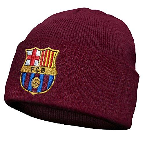 FC Barcelona Offizieller Fußball Strickmütze Bronx Wappen, offizielles Fanprodukt, Rot, Einheitsgröße (Barcelona Hat Fc Der)