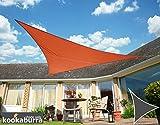 Kookaburra Wasserfest Sonnensegel 5,0m Dreieck Terrakotta