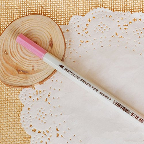 Eolunt - 3pcs netten Kawaii bunte Graffiti-Markierungen Soft-Permanent Marker Für Fotoalbum Painting Supplies: Student 2002 [Rosa]