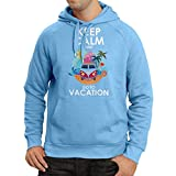 lepni.me N4442H Sudadera con Capucha Keep Calm and Go to Vacation (XX-Large Azul