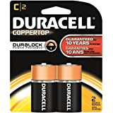 Duracell - CopperTop Alkaline Batteries With Duralock Power Preserve Technology, C, 2/Pk MN1400B2Z (DMi PK By Duracell
