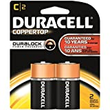 Duracell - CopperTop Alkaline Batteries with Duralock Power Preserve Technology, C, 2/Pk MN1400B2Z (DMi PK by Duracell