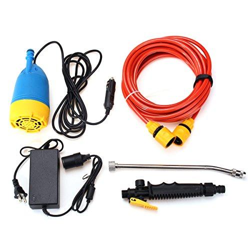 Plat Firm 12V 80W Haute Pression kit Lave-Auto Pompe de Lavage d'eau Voiture de Camping Car pulvérisateur Costume