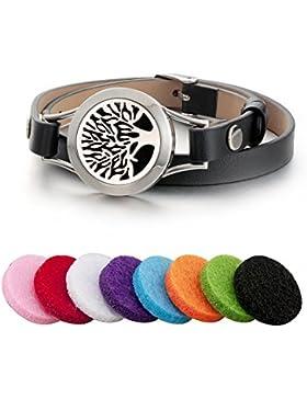 unisex - aroma - öl diffusor armband / duft aus rostfreiem stahl das armband mit ledergürtel