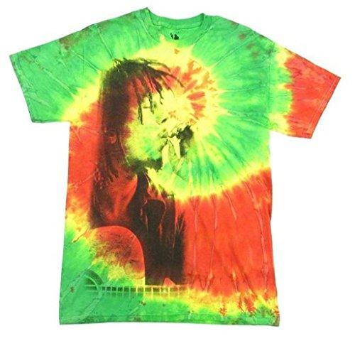 Bob Marley Rasta Smoke Tie Dye T-Shirt (T-shirt Dye Tie Rasta)