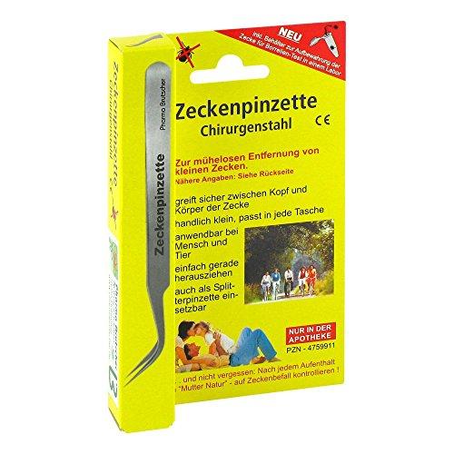 Pharma Brutscher Zeckenpinzette Chirurgenstahl, 1 St. Zeckenentferner
