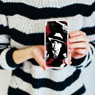 Apple iPhone 6 Housse Étui Silicone Coque Protection Al Capone parrain Mafia Gangster Housse en silicone blanc