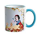 Disney Schneewittchen und die sieben Zwerge Tasse Always Be You von Elbenwald 320ml Keramik blau