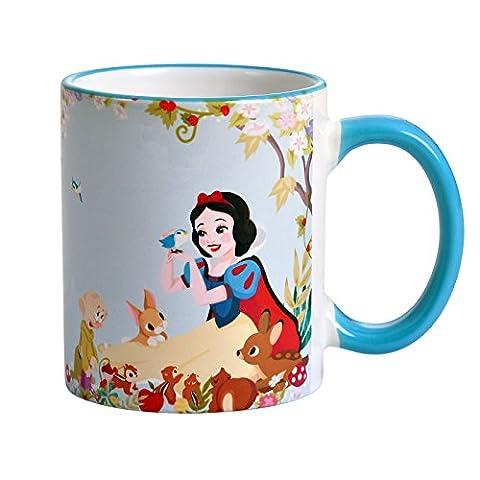 Schneewittchen und die sieben Zwerge Disney Tasse Always Be You von Elbenwald 320ml Keramik blau