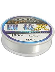 8 #fil de Nylon Transparent 0,5 mm Diamètre 32 kg pêche ligne bobine de 100 m