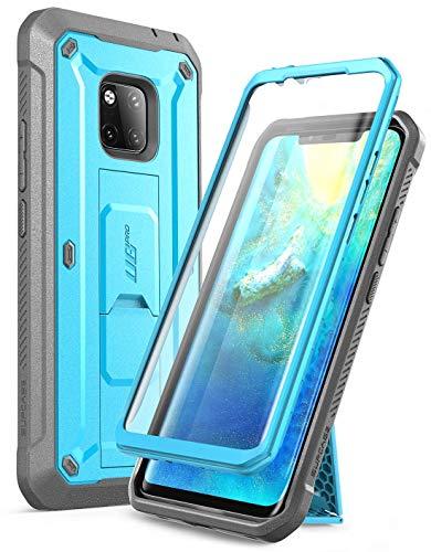 SupCase Huawei Mate 20 Pro Hülle 360 Grad Handyhülle Bumper Case Robust Schutzhülle Cover [Unicorn Beetle Pro] mit Integriertem Bildschirmschutz für Huawei Mate 20 Pro/LYA-L29 (6.39 Zoll) 2018 (Blau)