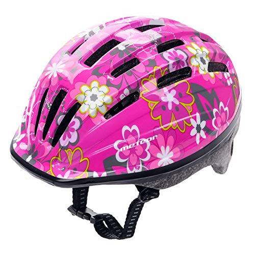 meteor® Kinderfahrradhelm Sicherer Fahrradhelm Kinder-Helm rollerhelm mädchen kinderfahrradhelm für Mountainbike Inliner skaterhelm BMX fahradhelm Scooter Jungen Bike Helmet (Pink, S (48-52)) (Helm, Mädchen)