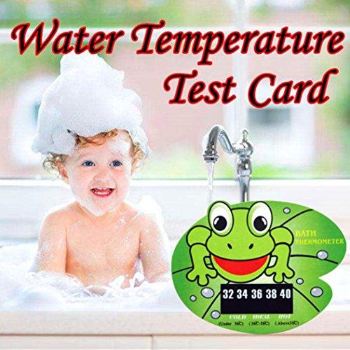 masrin Cute Animal Baby Badewanne Thermometer Baby Bad Wasser Temperatur Test Karte grün