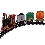 FREEDOMFIGHTERS Battery Operated Choo-Choo Classical Toy Train Set with Light, Sound & Smoke