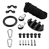 Lixada Kayak Canoe Anchor Trolley Kit System 21PCS withPulleys Pad Eye Cleats Rings Screws Kayak Accessories