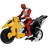 Power Rangers Dino Charge - Moto de transformacion, color rojo (Bandai 42071)