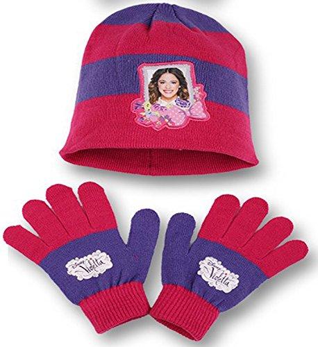 Disney Exclusiv Violetta Winter Mütze + Handschuhe Set - Kinder/Junior (Lila) Lila Junior Set