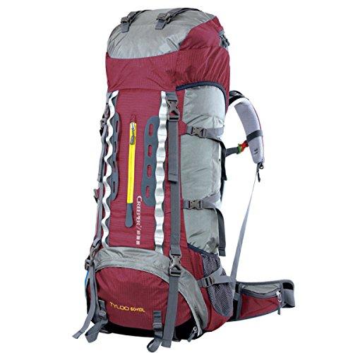 Outdoor Rucksack Mit Großer Kapazität Reise Tasche Wasserdicht Bergsteigen Tasche Purple