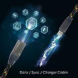 Lightning Kabel - 2m, Schwarz, Neustes Design - Sehr schnelles iPhone 7 Ladekabel - verstärktes USB Datenkabel mit Knickschutz - Für Apple iPhone 7 6 5, iPad, iPod - SWISS-QA Geldrückgabe Garantie - 4