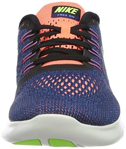 Nike Damen Free Rn Laufschuhe Blau (PURPLE DYNASTY/VOLT-BLACK-BRIGHT MANGO 501)