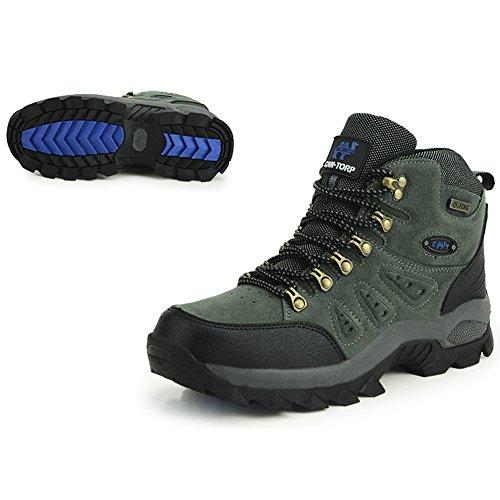 Outdoors borderline stivali impermeabili da escursionismo da uomo & da donna e trekking scarpe basse, Swamp Paese, Grau, 42 UE